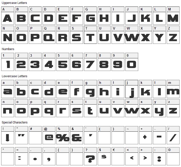 Vipnagorgialla Font Character Map