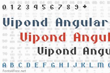 Vipond Angular Font