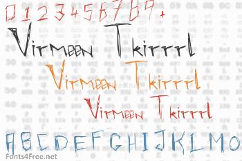 Virmeen Tkirrrl Font