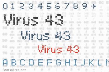 Virus 43 Font