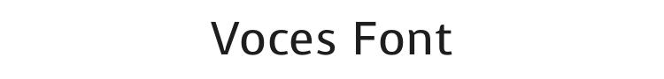 Voces Font Preview