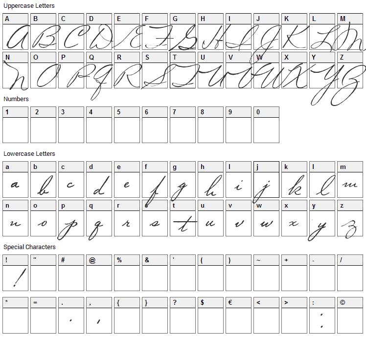 Volstead Font Character Map