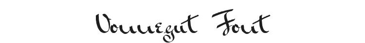 Vonnegut Font Preview