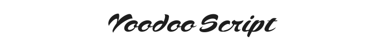 Voodoo Script Font Preview