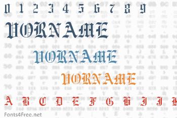 Vorname Font