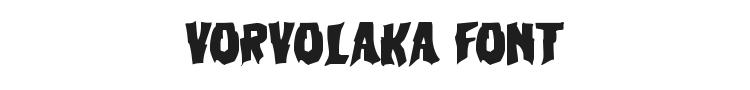 Vorvolaka Font Preview