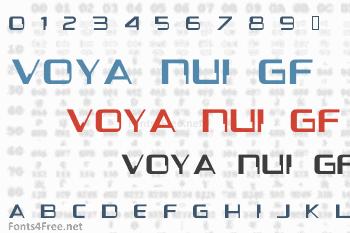 Voya Nui GF Font