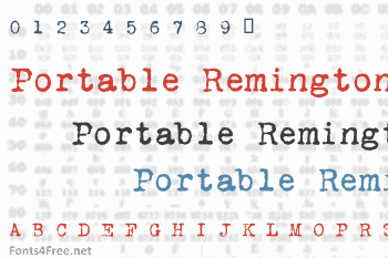 VT Portable Remington Font