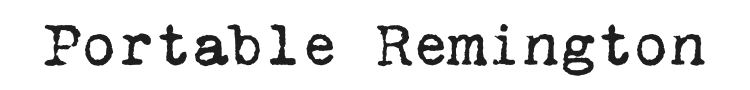 VT Portable Remington Font