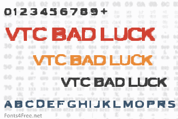 VTC Bad Luck Font