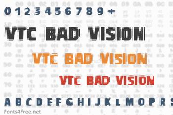VTC Bad Vision Font