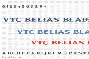 VTC Belias Blade Font