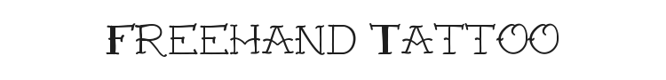 VTC Freehand Tattoo One Font Preview