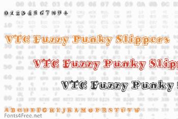 VTC Fuzzy Punky Slippers Font