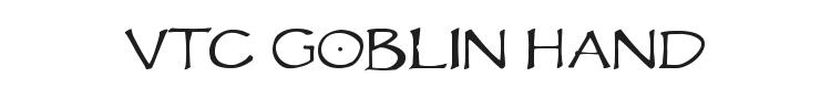 VTC Goblin Hand Font Preview
