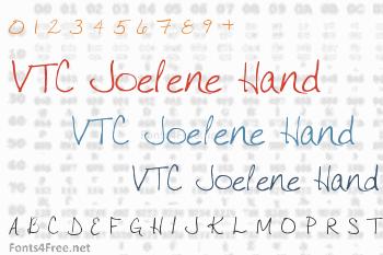 VTC Joelene Hand Font