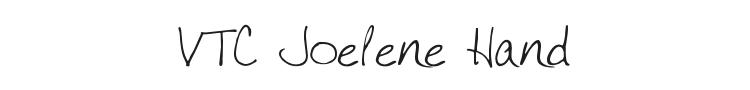 VTC Joelene Hand Font Preview