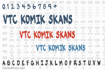 VTC Komik Skans Font