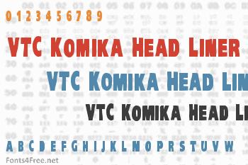 VTC Komika Head Liner Font