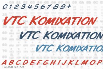 VTC Komixation Font