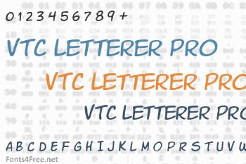 VTC Letterer Pro Font