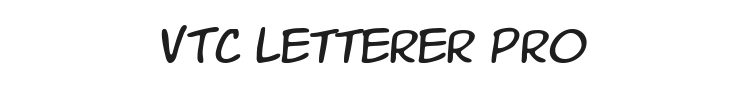 VTC Letterer Pro Font Preview