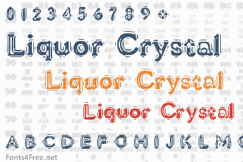 VTC Liquor Crystal Display Font