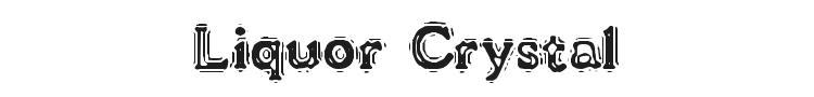 VTC Liquor Crystal Display Font
