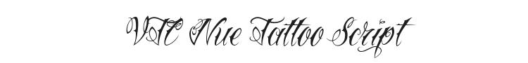 VTC Nue Tattoo Script Font Preview