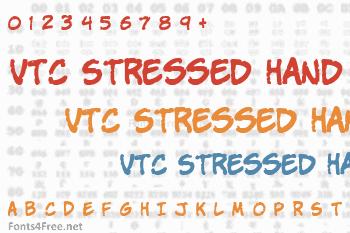 VTC Stressed Hand Font