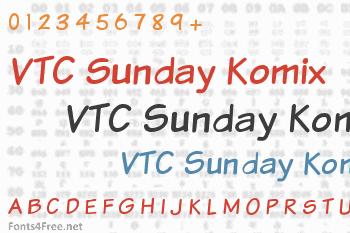 VTC Sunday Komix Font