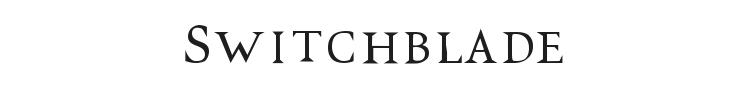 VTC Switchblade Romance Font