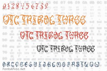 VTC Tribal Three Font