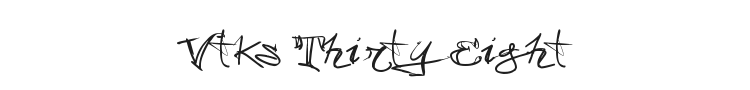 Vtks 38 Font Preview