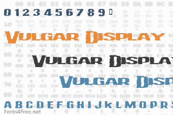 Vulgar Display Of Power Font