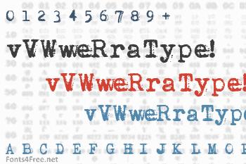vVWweRraType! Font