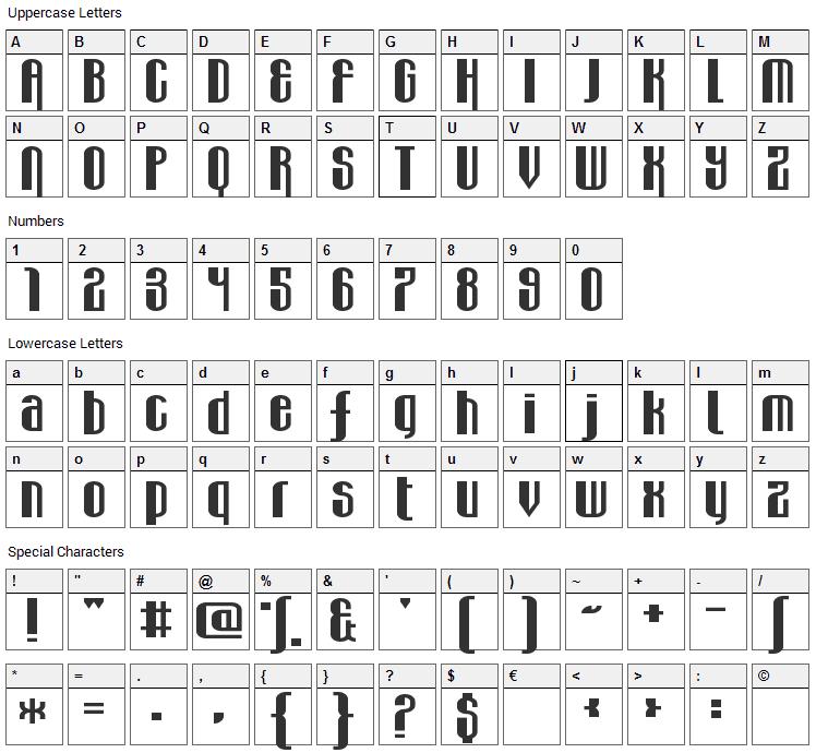 Wabbit Sans Font Character Map
