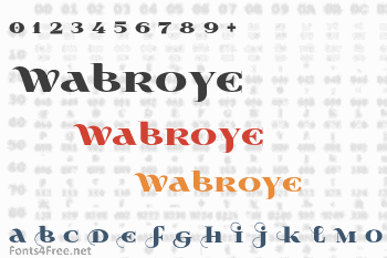 Wabroye Font