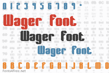 Wager Font