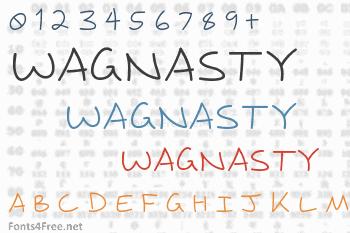 Wagnasty Font
