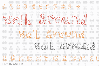 Walk Around the Block Font