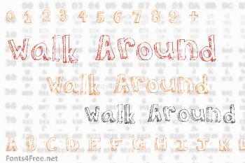 Walk Around the Block Font