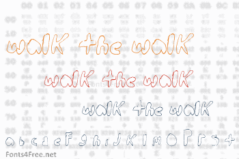 Walk the walk Font