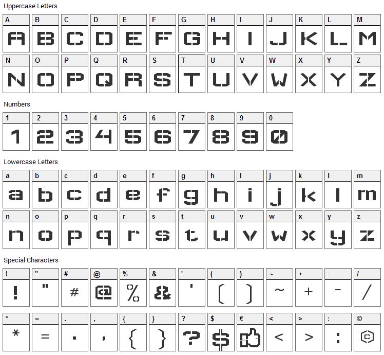Wallpoet Font Character Map