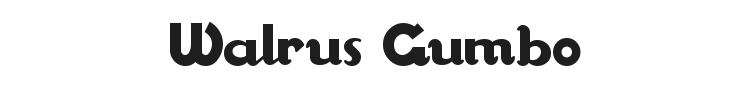 Walrus Gumbo Font Preview