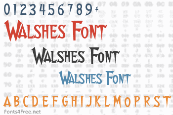 Walshes Font