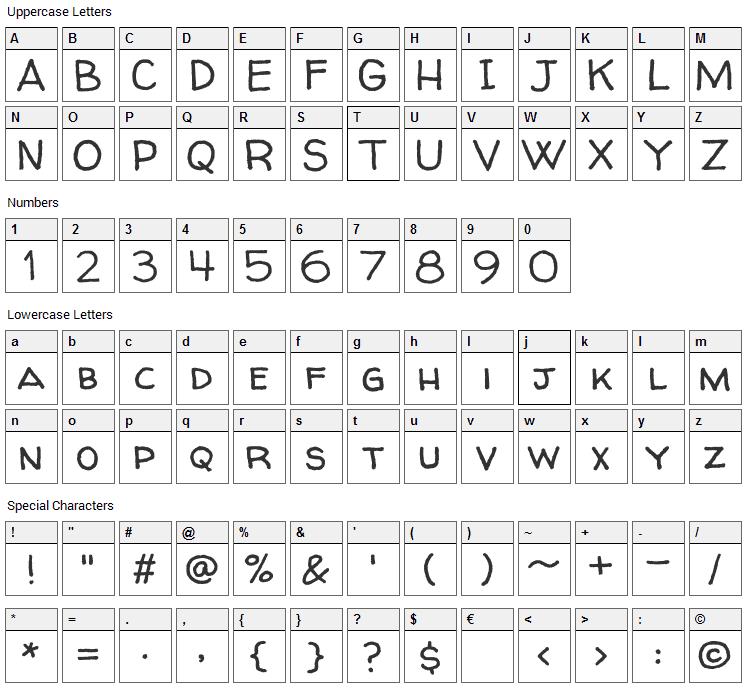 Walter Turncoat Font Character Map