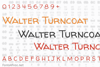 Walter Turncoat Font