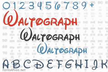 Waltograph Font Download (Walt Disney Font) - Fonts4Free