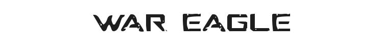 War Eagle Font Preview